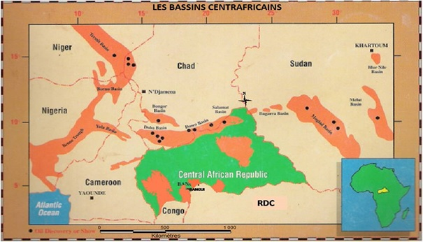 BASSINS SEDIMENTAIRES CENTRAFRICAIN